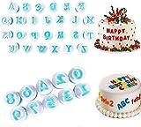 GIVBRO Ausstechformen für Fondant, Kuchenform, Dekoration, Keksausstecher, Stempel, Zuckerguss, Sugarcraft-Kits für Sirup, Kekse, Zahlen-S