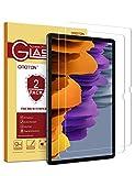 OMOTON [2 Stück] Panzerglas Schutzfolie für Samsung Galaxy Tab S7 Plus [12.4 Zoll], 9H Härte, Anti-Kratzer, Anti-B