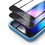 Bewahly Panzerglas Schutzfolie für iPhone 8/7 / SE 2020 [2 Stück], 3D Full Screen Panzerglasfolie 9H Härte Displayschutzfolie mit Installation Werkzeug für iPhone 8/7 / SE 2 (4,7 Zoll) - Schw