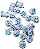 GIVBRO Kuchenausstecher-Werkzeug-Set, Fondantform, Ausstechform, Stempel, Zuckerguss, Sugarcraft-Kits für Sirup, Kekse, Dekoration, Kleinbuchstab