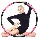 ear&ear Hula Hoop Reifen Erwachsene & Kinder, 6-8-Segmente Abnehmbarer Fitness Hullahub Reifen, für Fitnessübungen, Gewichtsverlust, Bauchformung und Massag