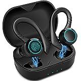 BluetoothKopfhörerAoslenkabellosKopfhörerInEarBluetooth 5.0 Noise Cancelling Sport Kopfhörer 36 Hour IPX7 mit Mikrofon und wasserdichter Touch Control Funktion geeignet fü