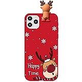 Yoedge für Samsung Galaxy J7 Prime Hülle mit Weihnachtsmuster 5,5', 3D Puppe Weihnachten Design Schlank Hülle Soft TPU Silikon Rot Handyhülle Ultra Thin Christmas Schutz Cover, Hirsch 2