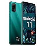 Ulefone Note 11P 4G Handys - Android 11 Smartphone ohne Vertrag Quad-Rückfahrkameras mit 2MP Marco-Objektiv und 8MP Weitwinkelobjektiv 8+128GB 3-in-1-Kartensteckplatz 6,55-Zoll-Bildschirm (Grün)