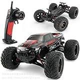 s-idee® 9115 rot RC Auto Buggy wasserdichter Monstertruck 1:12 mit 2,4 GHz über 40 km/h schnell wendig voll proportional 2WD 1/12 Ferngesteuerter Buggy Racing