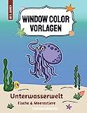 Window Color Vorlagen Unterwasserwelt – Fische und Meerestiere: mehr als 50 lustige Fensterbilder - Motive für euer Badezimmer | Geeignet für Kinder ... - Motive für Kinder und Erwachsene)