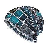 Cute Phones Modern Building with Windows and Balconies Women Slouch Beanie Mütze Warm Knit Striped Winter Beanie Cap