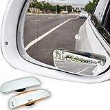 2pcs 90mm*32mm Auto Totwinkel Seite konvexen Spiegel Rearview 360 Weitwinkel Einstellbare R