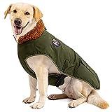 IREENUO Hundemantel Winter,Wasserdicht Hundejacke Winter für mittlere und große Hunde,Warm Hunde Winterjacke mit Verstellbare Gürtel & bauchschutz,Hunde Wintermantel für Herbst W