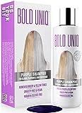 Silber Shampoo - Anti-Gelbstich Purple Shampoo für blonde, blondierte, gesträhnte und graue Haar - No Yellow von für Silber- Aschblond-Tönung - ohne Sulfat & Paraben - Bold U