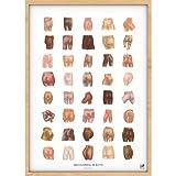 chARTwork - Kreatives Po-Poster mit Humor 'Hinterteil mit Style' Das Poster für Bad/Klo/Wohnzimmer/Flur - ohne Rahmen - DIN A3 ca. 30x42