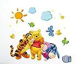 Kibi Disney Winnie Puuh & Freunde Freizeitspaß Wandtattoo, Wandtattoo Winnie Pooh Kinderzimmer Wandsticker Winnie Puuh Aufkleber W