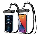 SIMPFUN wasserdichte Handyhülle Handytasche 7,0 Zoll (2 Stück) Handy Wasserschutzhülle IPX8 für Schwimmen Baden und Kochen ,für iPhone 12pro/12pro max/iPhone 11/iPhone 8/Galaxy S20/HUAWEI P30/x