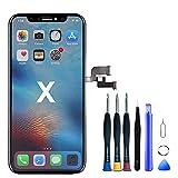 Hoonyer Display für iPhone X mit 3D-Touch und Ersatzbildschirm-Reparatur-Kit (iPhone X LCD Display)