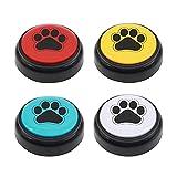 Chunhee Trainingsglocken für Haustiere,Hund Türklingel Hundeglocken für Katzentraining, Aufgezeichnete Kommunikation Potty/Essen Sie etwas/Hinausgehen Interaktives Spielzeug Haustier Werkzeug 4 Farb