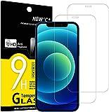 NEW'C 2 Stück, Schutzfolie Panzerglas für iPhone 12, 12 Pro (6.1), Frei von Kratzern, 9H Härte, HD Displayschutzfolie, 0.33mm Ultra-klar, Ultrabeständig