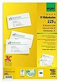 SIGEL LP795 Visitenkarten 3C, 100 Stück (10 Blatt), hochweiß, glatter Schnitt rundum, 225 g, 85x55 mm - weitere Stück