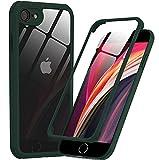 PHONEAURA kompatibel mit iPhone 7/8/ SE 2020 360 Grad Schutzhülle Vorne und Hinten Handyhülle Ganzkörper Apple Case mit Zwei Panzerfolien Displayschutz, Komplettschutz (Deutsches Design)