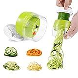 Adoric Spiralschneider Hand [ 3 in 1 ] Gemüse Spiralschneider, Gemüsehobel Gemüsenudeln Schneider für Karotte, Gurke, Kartoffel,Kürbis, Zucchini, Zwiebel, Gemüsespaghetti T
