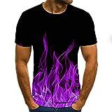 T-Shirt Kurzarm Herren New Summer Fashion 3D Gedruckte Männer T-Shirt Bunte Feuer Kurzarm Männer T Mode Hip-Hop Streetwear-Txu-1130_3XL