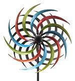 E-X WINDRAD °Art Ferro ° Sonne ° Metall° Windspiel° GARTENSTECKER° H 185 cm° D 48