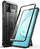 SUPCASE Outdoor Hülle für Samsung Galaxy Note 10 Lite (6.7') 2020 Handyhülle Bumper Case 360 Grad Schutzhülle Cover [Unicorn Beetle Pro] mit Integriertem Displayschutz und Ständer (Schwarz)