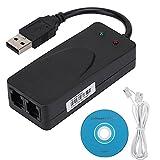 Faxmodem Dual Port USB2.0 56K Externer Modemtreiber für Win 7/Win 8/Win 10/Win XP 56g