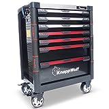 KnappWulf Werkzeugwagen KW533 Werkzeugkoffer Werkstattwagen Werkzeugkasten gefüllt mit Werkzeug Ablage aus E