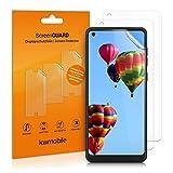 kwmobile 3X Schutzfolie kompatibel mit Samsung Galaxy A21s - Folie klar - Displayschutzfolie Displayschutz transparent Display