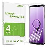 apiker [4 Stück TPU Schutzfolie für Samsung Galaxy S9, Samsung Galaxy S9 TPU Displayschutzfolie, mit Positionierhilfe blasenfrei, hohe Definition, hohe Empfindlichk