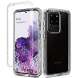 Schutzhülle für Samsung Galaxy S20 Ultra 17.5 cm (6.9 Zoll), 5G, Vorder- und Rückseite, Samsung Galaxy S20 Ultra 17.5 cm (6.9 Zoll), SM-G988B, transparent, stoßfest, für Samsung Galaxy S20 U
