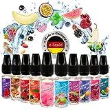Riccardo E-Liquid Red Dragon Fruchtset 10x10 ml, e Liquid Set für e-Zigarette, 50 % PG / 50 % VG, 0 mg Nik