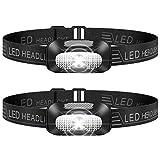 Stirnlampe LED, 2 Stück Leichtgewichts Kopflampe, Superheller USB Wiederaufladbare Wasserdicht Stirnleuchte für Outdoor, Camping, Fischen, Laufen, Joggen, Wandern, Lesen, Arb