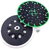 Schleifteller Durchmesser 150 mm Weich/Schwer Schleifteller 17-Loch Vakuumpolierscheibe mit Klettsystem für Bohrmaschine/Winkelschleifer (schwer)