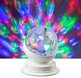X4-LIFE LED Discokugel - Mini Partylicht für Wohnräume und Kinderzimmer - Rotierend, RGB