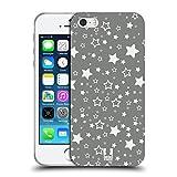 Head Case Designs Sterne Silber Urlaub Kollektion Soft Gel Handyhülle Hülle kompatibel mit Apple iPhone 5 / iPhone 5s / iPhone SE 2016