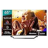 Hisense 65U7QF QLED 163cm (65 Zoll) Fernseher (4K ULED HDR Smart TV, HDR 10+, Dolby Vision & Atmos, Full Array Local Dimming, WCG, USB-Recording, Ultra Slim Design, Mittelstandfuß, Alexa Built-in)
