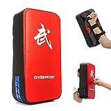 Overmont PU Leder Schlagpolster Schlagkissen Kickschild Boxpads Boxsack für Kickboxen Thaiboxen Karate UFC MMA 40cm*20cm*10