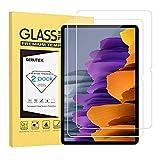 Gerutek [2 Stück] Schutzfolie Samsung Galaxy Tab S7, 9H Härte, 2.5D, Hülle Freundllich, Anti-Kratzen, Anti-Bläschen Displayfolie Schutzglas Displayschutz für Samsung galaxy Tab S7 11 Zoll SM-T870/T875