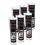Silikon Sanitär 6 x 300 ml   Transparent   Acetat für Bad Dusche und WC   schimmelresistent   zum Abdichten und Verfug