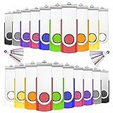 USB Sticks 16GB 20 Stück, JIUSHARK 20er Pack USB Speicherstick, 16GB Mini USB-Stick Schlüsselanhänger, 20Pcs Memory Stick USB Set Pendrive 2.0 ( Mehrfarbig )