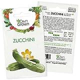 Zucchini Samen: Premium Zucchini Saatgut für die Anzucht von ca. 5 Zucchini Pflanzen – Samenfeste Gemüse Samen – Samen Gemüse – Gemüse Pflanzen Samen für Gemüse Anzucht – Gemüse Saatgut von OwnGrow