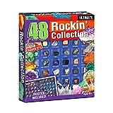 xiaohuangren Weihnachts Countdown Kalender 36/48 Interessante Erz Lernspielzeuge Weihnachtsgeschenkbox Für Kinder (Fels-, Mineralien- Und Fossilien-Ausgrabungssets)