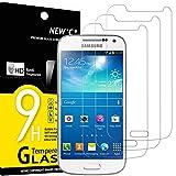 NEW'C 3 Stück, Schutzfolie Panzerglas für Samsung Galaxy S4 Mini, Frei von Kratzern, 9H Härte, HD Displayschutzfolie, 0.33mm Ultra-klar, Ultrabeständig
