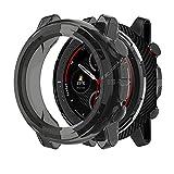 LvBu Schutzhülle kompatibel Für Amazfit Stratos 3, All-Around Case Ultra dünn TPU Schutz Hülle für Amazfit Stratos 3 Smartwatch (Black)