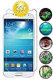 Smartphone Equipment [2er Pack] Panzerglas für Samsung Galaxy S4 Mini gehärtetes Glas 9H, Echtglas Glasfolie Glas Folie Schutzfolie Panzerfolie Display