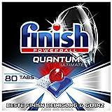 Finish Quantum Ultimate Spülmaschinentabs – Geschirrspültabs mit 3-fach Wirkung – Kraftvolle Reinigung, Fettlösekraft und Glanz – Sparpack mit 80 Finish Tab