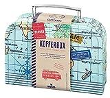 moses 82440 Fernweh Koffer Allzweckbox | Für Geldgeschenke und kleine Reise-Utensilien, blau, One S