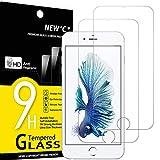 NEW'C 2 Stück, Schutzfolie Panzerglas für iPhone 6s Plus, iPhone 6 Plus, Frei von Kratzern, 9H Härte, HD Displayschutzfolie, 0.33mm Ultra-klar, Ultrabeständig