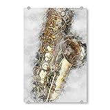 artboxONE Acrylglasbild 30x20 cm Musik Saxophone (matart) - Bild Saxophone Instrument I